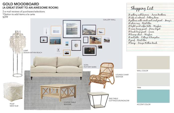 Gold mood board from sea interior design are you decorating for Office interior design questionnaire for clients