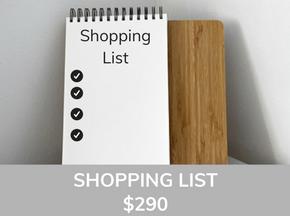 Sea Interior Design Shopping List