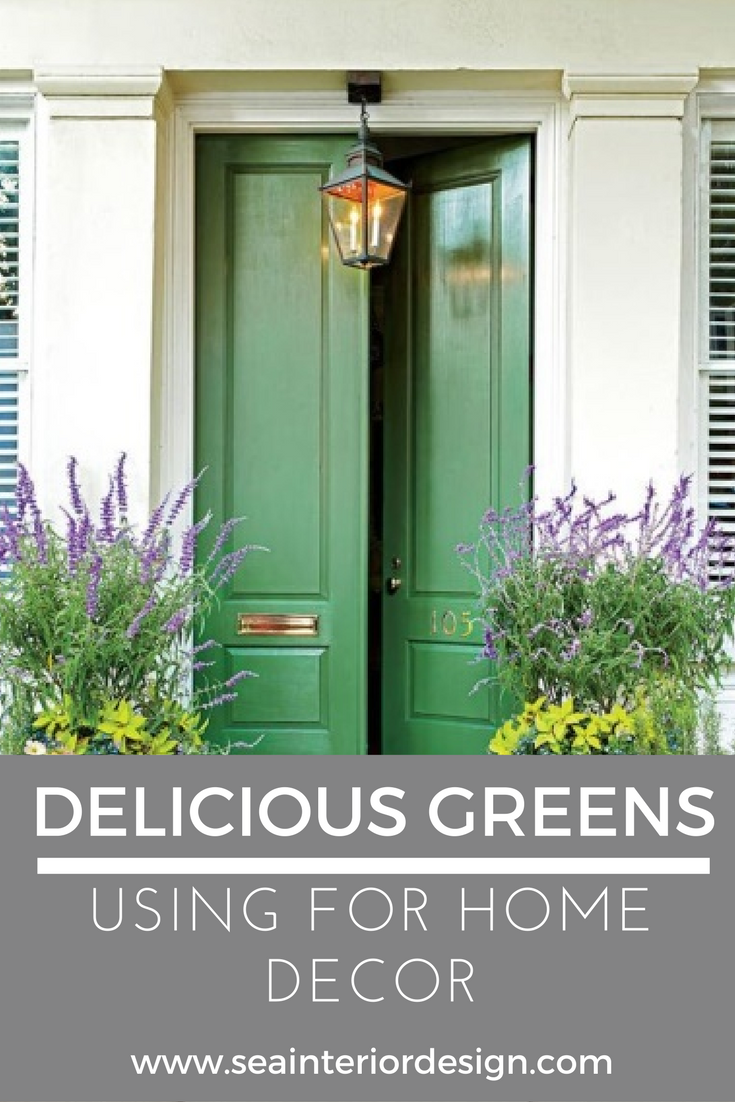 USING DELICIOUS GREENS IN HOME STYLING