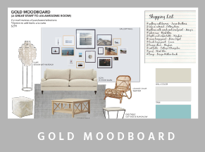 moodboard gold - Mood boards