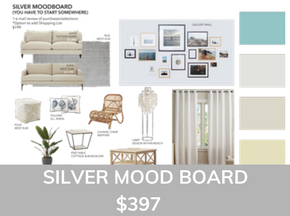 Sea Interior Design Silver Mood Board